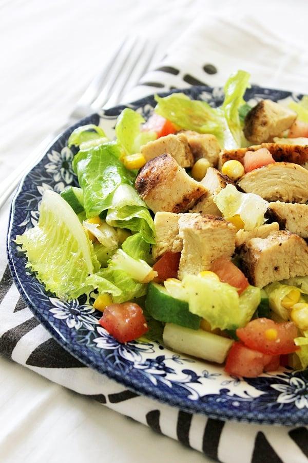 side shot of Cajun Chicken Salad