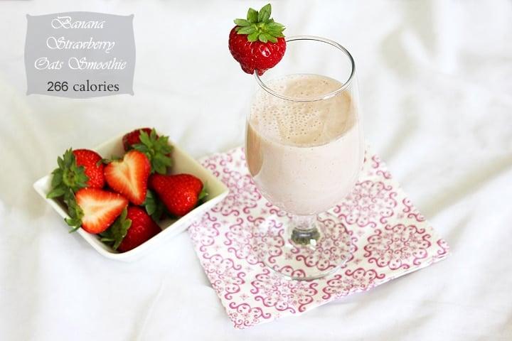 banana strawberry oats smoothie