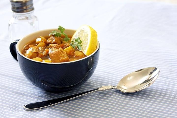chicken veg stew freshly made