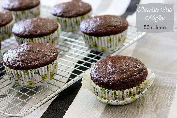 Chocolate oats muffins