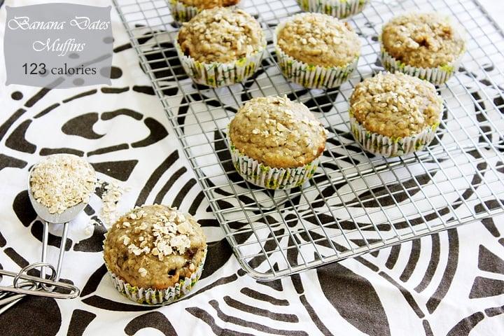 banana dates morning muffins