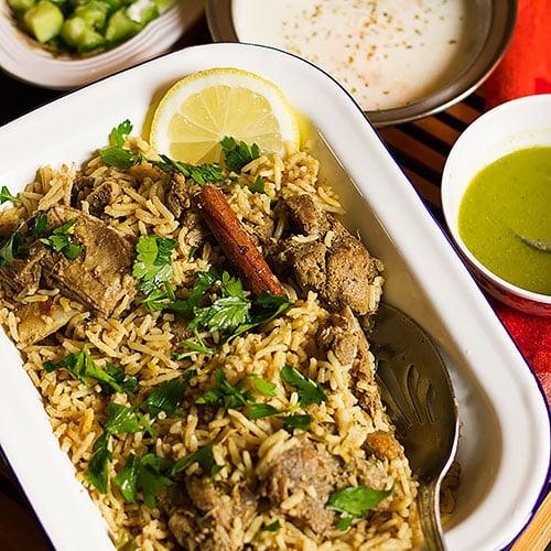 saffron rice. Zafrani pulao feature image