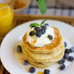 Yogurt pancakes feature image