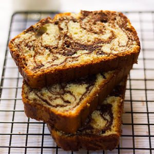 Feature image of marble cake.
