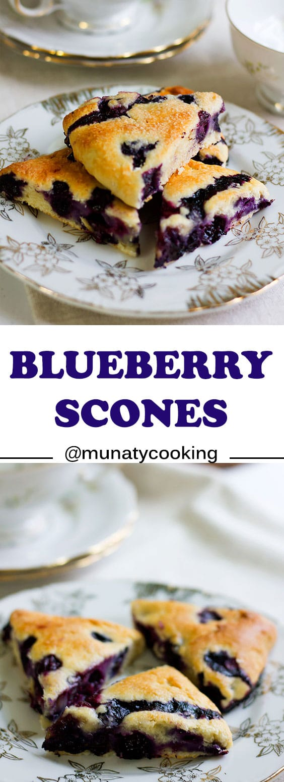 Blueberry Scones, my favorite scone recipe. Buttery, moist, and tender made from scratch delicious scones. #scone #scones