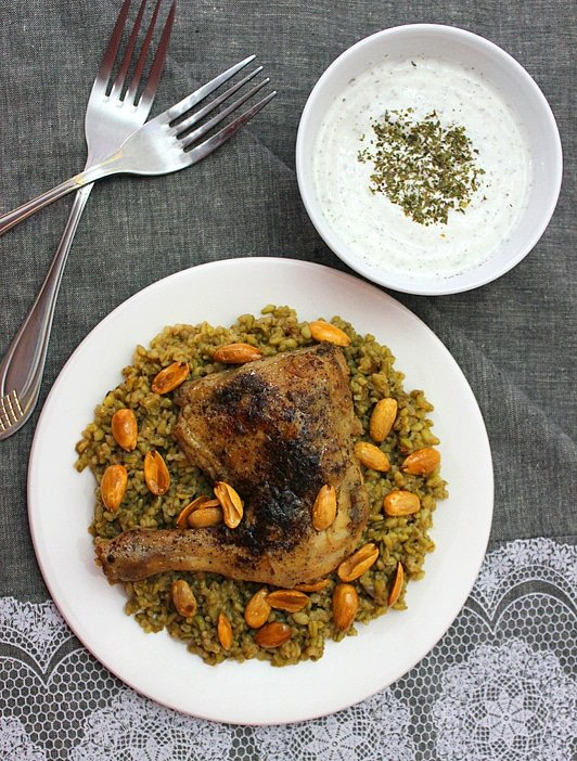 freekeh with chicken 2