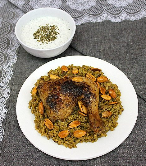 freekeh with chicken 3