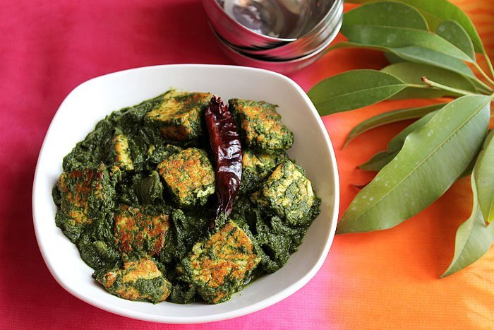 Palak paneer recipe made easy munaty cooking palak paneer is an indian vegetarian dish shallow fried indian cheese in spinach thick gravy forumfinder Images