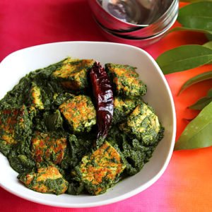 Palak Paneer is an Indian vegetarian dish. Shallow fried Indian cheese in spinach thick gravy. Creamy in texture and usually served with paratha or chapati on the side. www.munatycooking.com | @munatycooking #palakpaneer #paneer