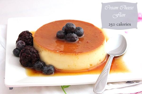 cream cheese flan low calorie
