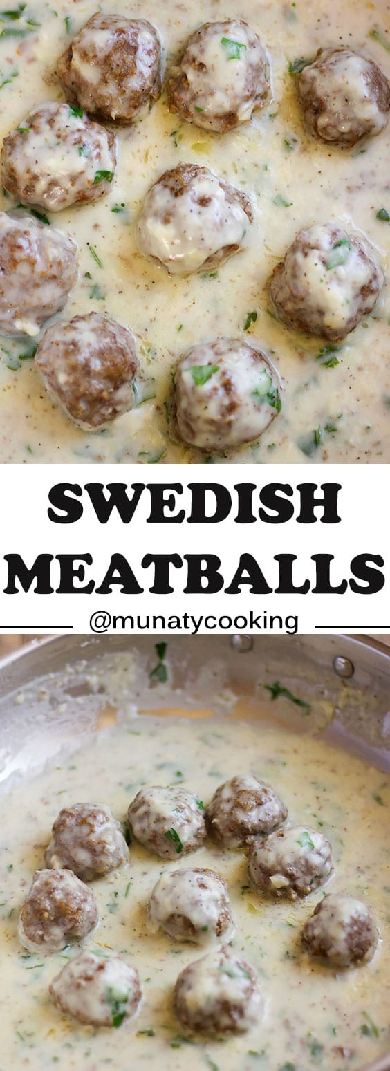 Swedish Meatballs Recipe, a low calorie version that has the same flavor as the authentic dish. Juicy meatballs in creamy rich sauce. #meatballs #meatballrecipe