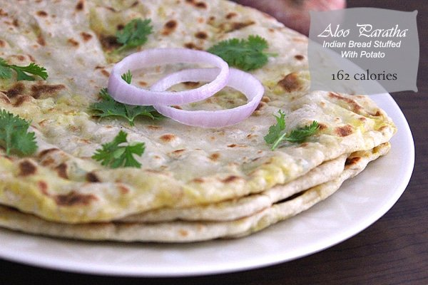 Aloo paratha indian bread stuffed with potato munaty cooking aloo paratha low calorie forumfinder Image collections