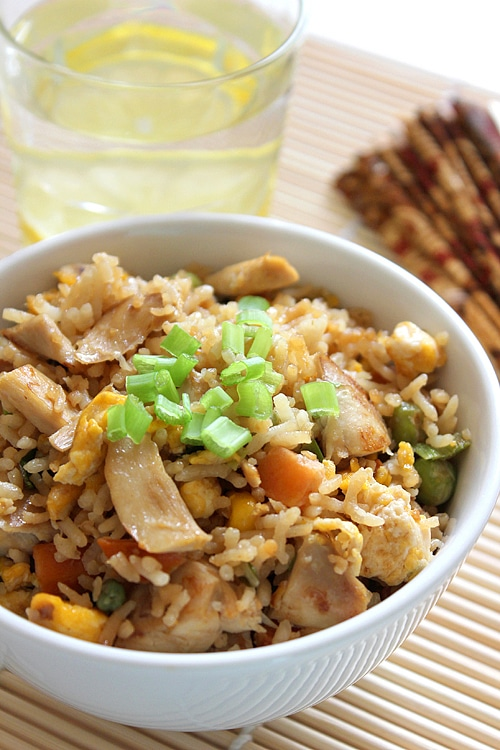 chicken egg fried rice7