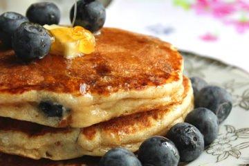 Yogurt Blueberry Pancake Soufflé