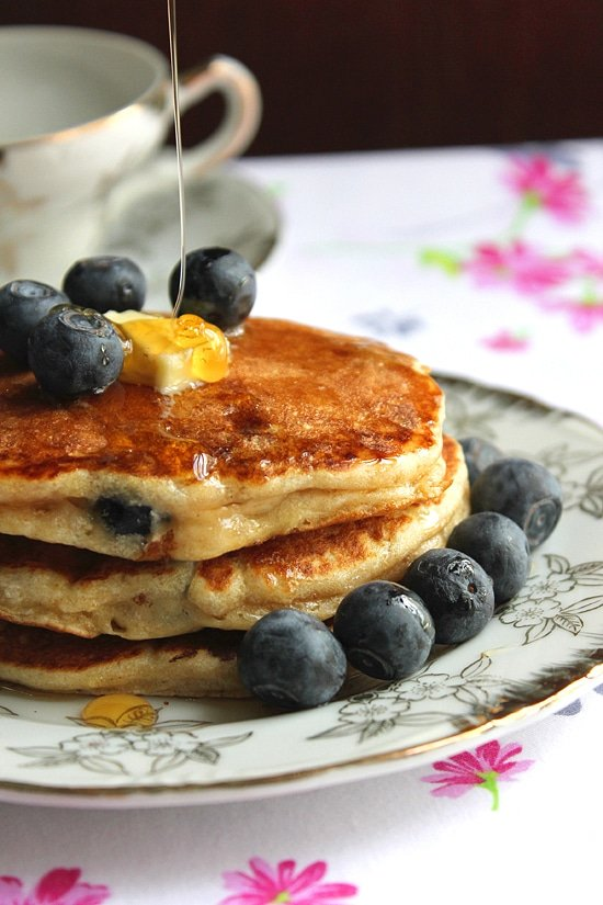 Yogurt Blueberry Pancake Soufflé