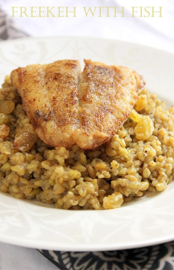freekeh with fish 1