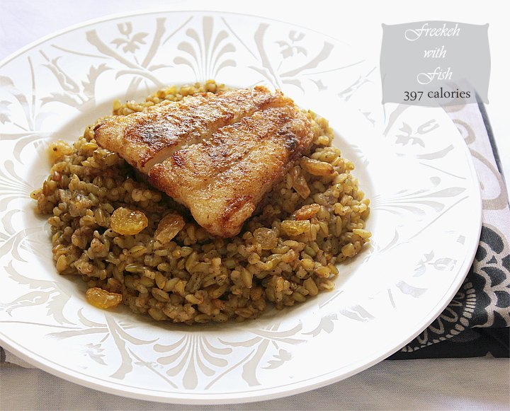 freekeh with fish