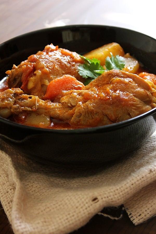 Close up image of Chicken stew.