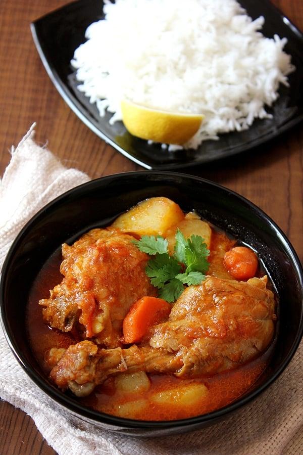 Overhead shot of Chicken stew.