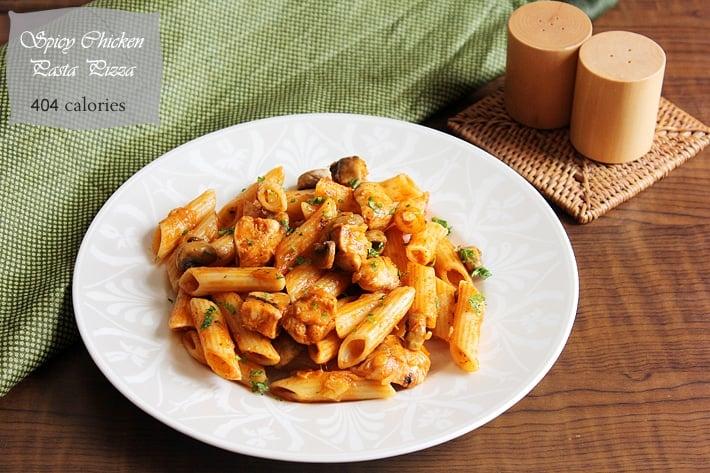 spicy chicken pizza pasta