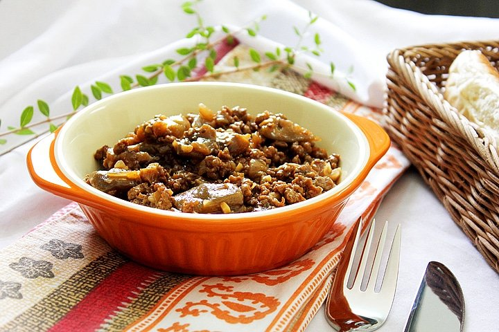 eggplant with ground beef 2