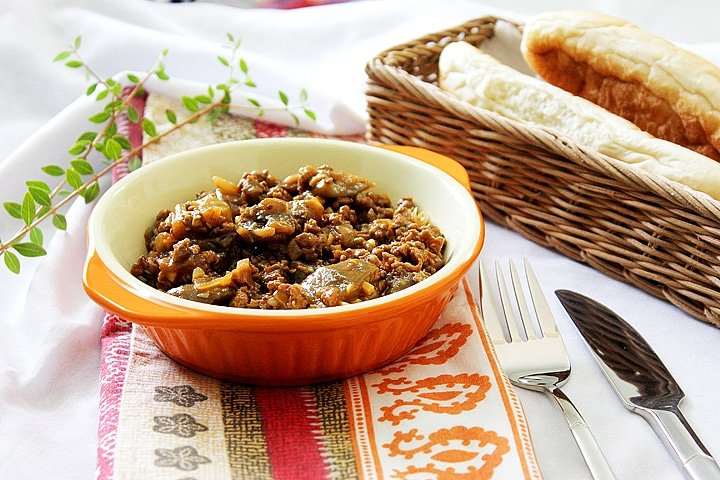 eggplant with ground beef 3