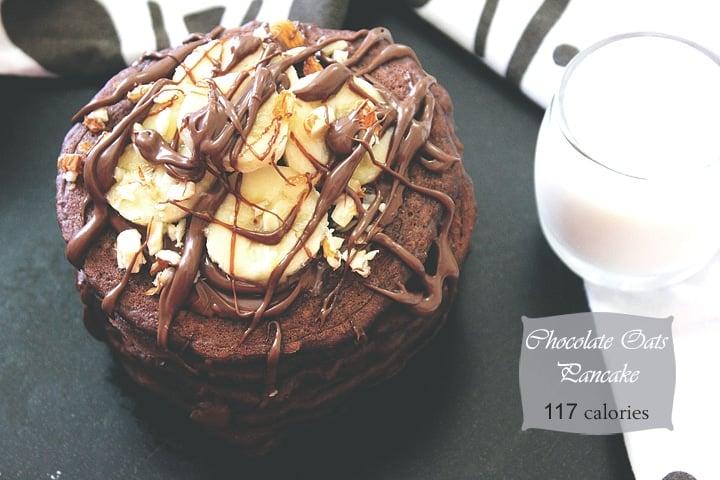 chocolate oats pancake