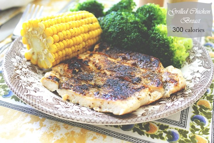 grilled chicken with corn