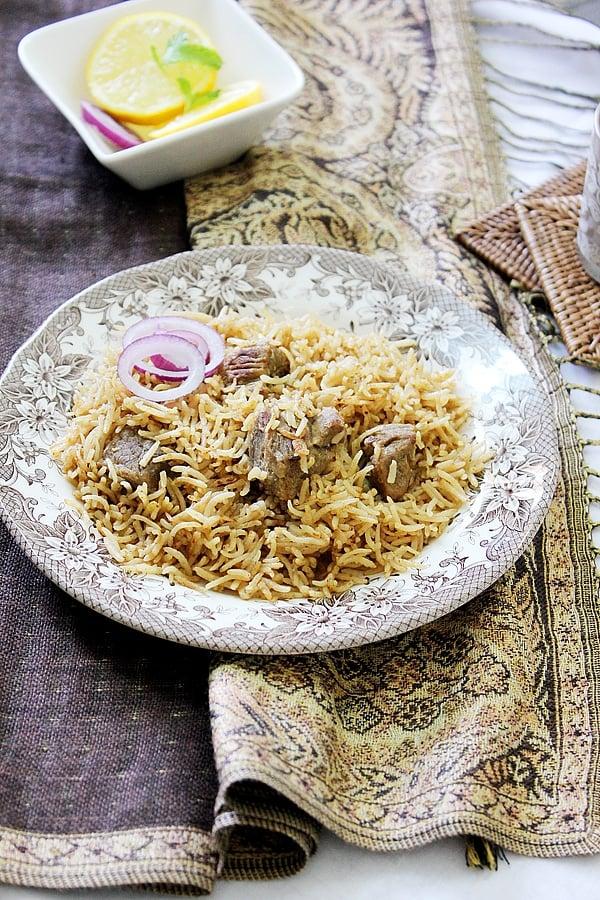 Yakhni Pulao – Beef stock with Rice
