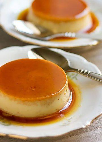 Pumpkin Flan recipe feature image.