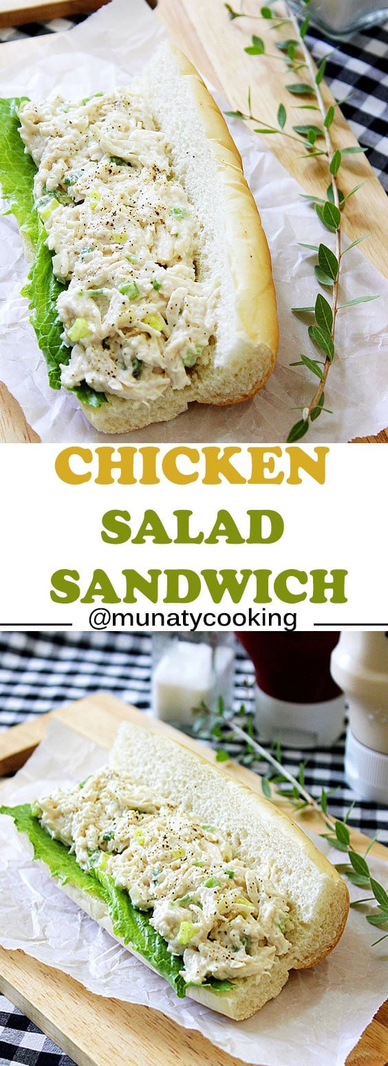 Chicken Salad Sandwich. Low in calories and tastes Incredible. This chicken salad sandwich is packed with flavor is most delicious light sandwich and will become a favorite! www.munatycooking.com | @munatycooking