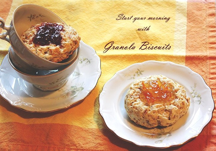 granola biscuits text