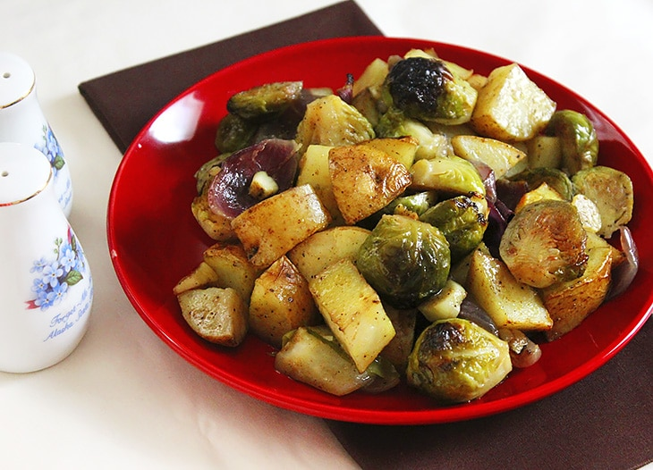 curry flavored brussels sprout 2