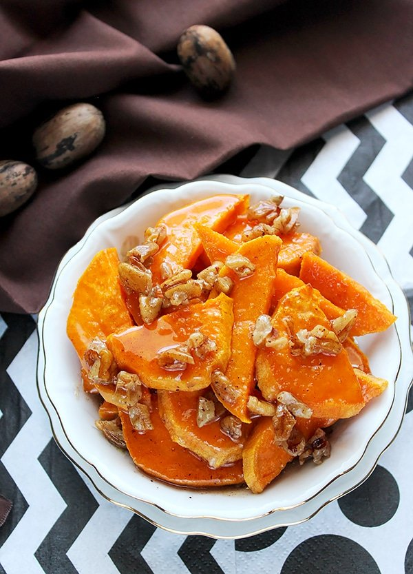 Baked Sweet Potato with Honey Butter sauce