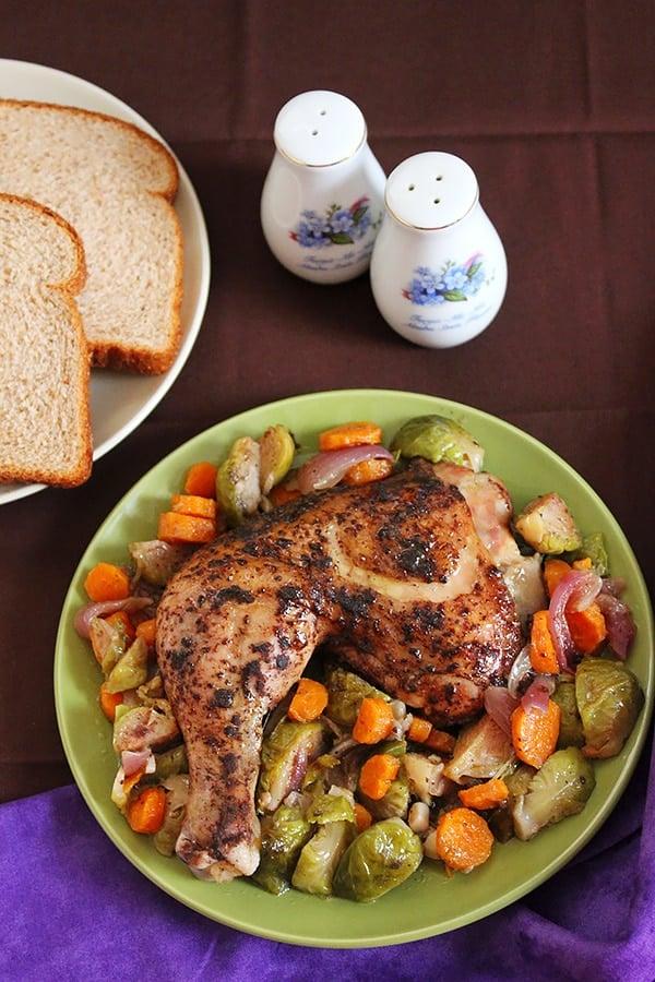Lemon Chicken Brussels Sprout Casserole