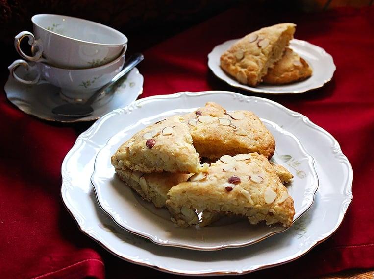 buttermilk coconut almond scones close image