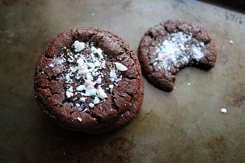 ... dedicate this recipe of Chocolate Candy Cane Cookies to all of them