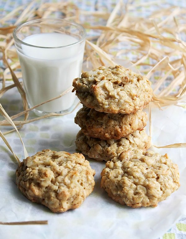 chewy pecan coconut oatmeal cookie 1