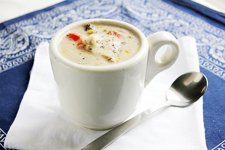 Chicken Mushroom Cream Soup close up image