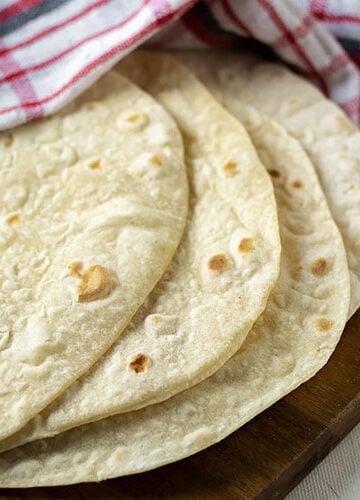 Feature image for flour tortillas.