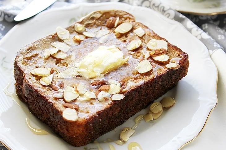 Cream cheese jam stuffed french toast