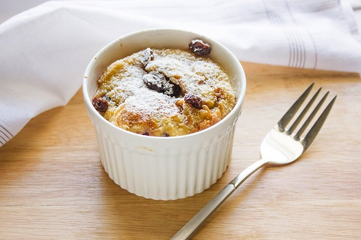 blackberries bread pudding 1
