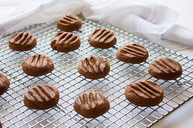chocolate melting moments on cooling rack