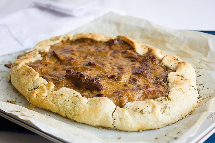 sausage caramelized onion galette 4