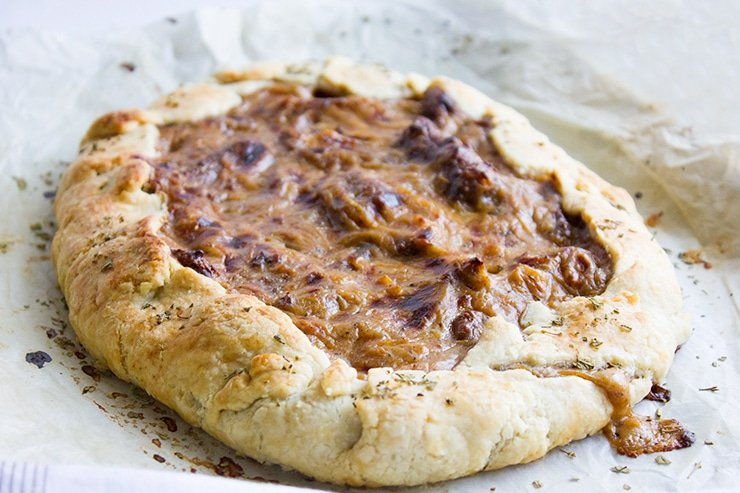 sausage caramelized onion galette 6