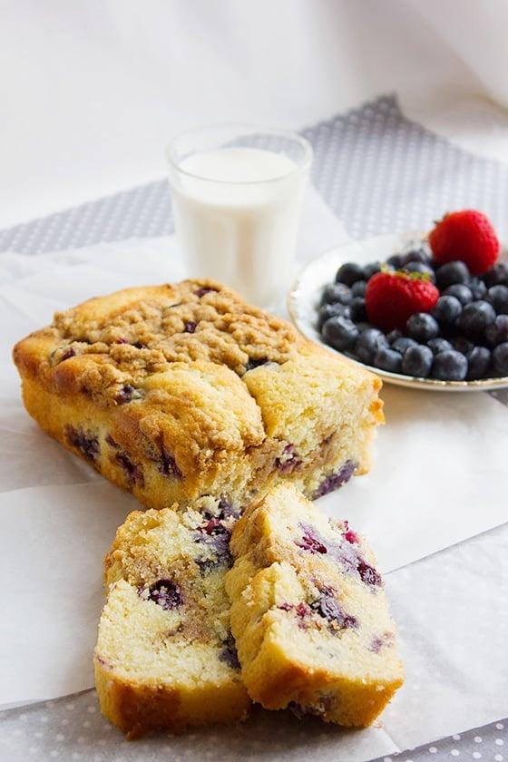 blueberry butter loaf cake 2