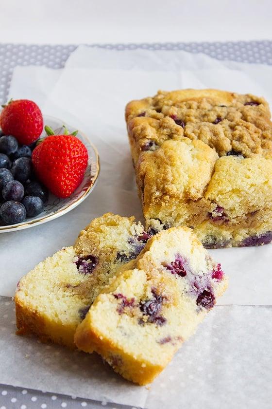 blueberry butter loaf cake 4