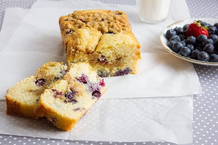 blueberry butter loaf cake 8