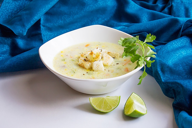 chicken corn chowder soup 1