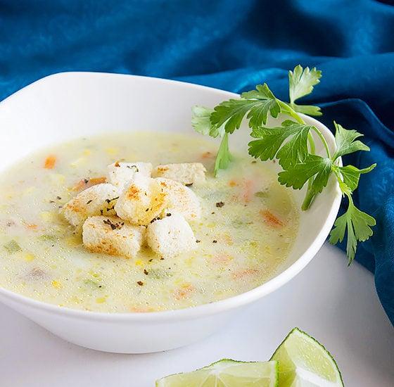 chicken corn chowder soup 2